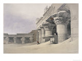 Facade of the Pronaos of the Temple of Edfou Lámina giclée por David Roberts
