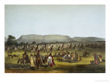 Encampment of Piekann Indians Near Fort Mckenzie Giclee Print by Thomas Loraine Mckenney