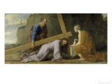 Jesus Carrying His Cross Giclee Print by Eustache Le Sueur