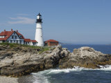 Portland Head Light, Cape Elizabeth, Maine Stampa fotografica di Keith & Rebecca Snell