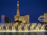 Bellagio Hotel and Casino Fountain, Las Vegas, Nevada Photographic Print by Dennis Flaherty