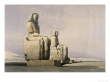 Thebes: the Colossal Statues of Amunoph III Lámina giclée por David Roberts