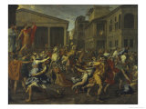 Rape of the Sabines Giclee Print by Nicolas Poussin