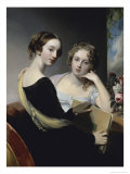 Portrait of the Mceven Sisters Giclee Print by Thomas Sully