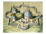 Stellebourg Observatory and Instruments Premium Giclee Print by Joan Blaeu