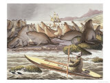 View of the Island of Saint Paul in the Sea of Kamtchatka Giclee Print by Ludwig Choris