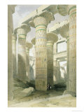 Oblique View of the Hall of Columns, Karnak Giclee Print by David Roberts