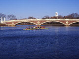 Sculling on the Charles River, Harvard University, Cambridge, Massachusetts Photographic Print by Rob Tilley
