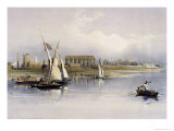 General View of the Ruins of Luxor, from the Nile Premium Giclee Print by David Roberts
