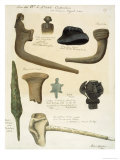 Images of Pipes and Weapons Giclee Print by Grider Rufus