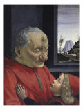 Portrait of an Old Man and His Grandson Giclee Print by Domenico Ghirlandaio