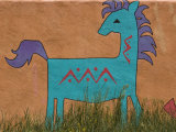 Horse Wall Mural, Santa Fe, New Mexico Photographic Print by Nancy &amp; Steve Ross