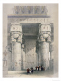 View from under the Portico of the Great Temple Ofdendera Premium Giclee Print by David Roberts