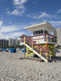 Beach Lifeguard Tower, South Beach, Miami, Florida Photographic Print by Walter Bibikow