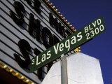 Street Sign for Las Vegas Boulevard, Las Vegas, Nevada Photographic Print by Corey Wise