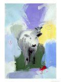 Cows Giclee Print by Peggy Brown