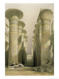 Central Avenue of the Great Hall of Columns Giclee Print by David Roberts