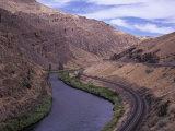 Yakima Canyon and Yakima River, Kittitas County, Washington Photographic Print by Jamie & Judy Wild