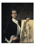 Portrait of the Artist Holding a Life Study, 18th century Giclee Print by Luis Egidio Melendez