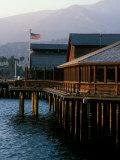 Waterfront Restaurant, Stern's Wharf, Santa Barbara, California Photographic Print by Savanah Stewart