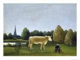 View Surrounding Paris Giclee Print by Henri Rousseau