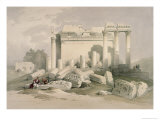 Portion of the Eastern Portico Giclee Print by David Roberts