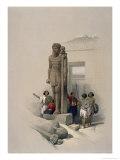 Colossi at Wady Samboua Giclee Print by David Roberts
