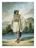 Woman in Huipil, c.1831 Giclee Print by Johann Friedrich Maximilian Von Waldeck