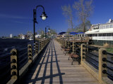 Water Street Walkway along Cape Fear River, Wilmington, North Carolina Photographic Print by Walter Bibikow