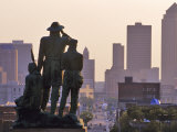 Statue Overlooking the City, Des Moines, Iowa Photographic Print by Chuck Haney