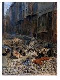 La Barricade, Rue de La Mortellerie, c.1848 Giclee Print by Jean-Louis Ernest Meissonier