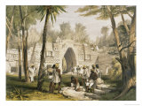 Gateway at Labnah Giclee Print by Frederick Catherwood