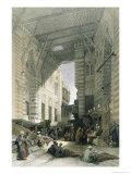 Silk-Mercers' Bazaar of El-Ghooreeyeh, Cairo Giclee Print by David Roberts