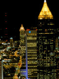 Southern Bell Building at Night, Atlanta, Georgia, USA Photographic Print by Marilyn Parver