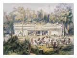 Temple at Tulum Giclee Print by Frederick Catherwood