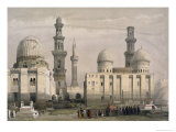 Tombs of the Memlooks, Cairo, with an Arab Funeral Premium Giclee Print by David Roberts
