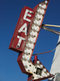 Eat Diner Sign along West 6th Avenue, San Jacinto District, Amarillo, Texas Photographic Print by Walter Bibikow