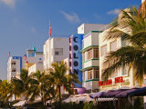 Art Deco District of South Beach, Miami Beach, Florida Photographic Print by Adam Jones