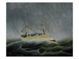Ship in a Storm Premium Giclee Print by Henri Rousseau