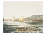 View of the City of Manila, Phillipine Islands Giclee Print by Ludwig Choris