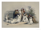 Group in the Slave, Market in Cairo, A Premium Giclee Print by David Roberts