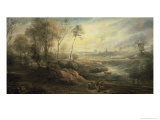 Landscape with a Bird Catcher, 17th century Giclee Print by Peter Paul Rubens