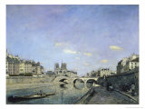 The Seine and Notre, Dame in Paris, c.1864 Giclee Print by Johan-Barthold Jongkind