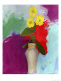 Zinnia, no.3 Giclee Print by Peggy Brown