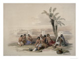 Abyssinian Slaves at Korti, Nubia Giclee Print by David Roberts