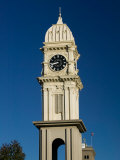 Town Clock On Main Street, Dubuque, Iowa Photographic Print by Walter Bibikow