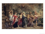 The Escape of Lot, 17th century Giclee Print by Peter Paul Rubens