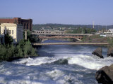 Spokane River with Spring Runoff, Spokane, Washington Photographic Print by Jamie &amp; Judy Wild