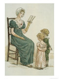 July, Kate Greenaway's Almanac For 1895 Giclee Print by Kate Greenaway
