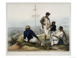 Indians of the Guauchinango Mountains Giclee Print by Carl Nebel